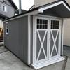 物置小屋を作る④:外壁を水性ペンキでツヤ消し塗装する