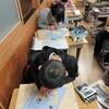 4年生:図工 木版画 掘り進める