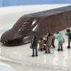 """本日は""""鉄道電化の日""""!「スタートレインチョコ」で""""チョコラマ""""やってみました!"""