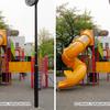 公園の遊具を立体視