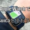 Apple WatchにSuicaの設定をしよう。