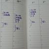 週間バーチカルの1日表が主治医に割と好評です