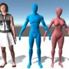 無料の素朴な人間モデル