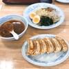 大阪長居にあるぎょうざの満洲で餃子とつけ麺を頂きました