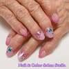 爪が丈夫になって形もキレイになって嬉しい♡ドライフラワーが美しい紫陽花ネイル☆