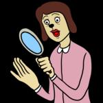手相を見る女性 のイラスト