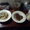 今日の晩御飯はハンバーグ定食でした。