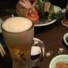 刺身、ビール、本厚木 (吉本)
