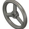 Fusion360のソリッドで、スポーク構造を持つ円盤を、3Dモデルを図面から作成するとき、一手間かかるのでその対処方法の例