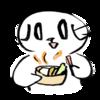 温野菜を食べて温活する猫の無料イラスト