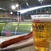 ラグビー観戦しながらのオリオン生ビール!!