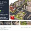 【作者セール 】コミックスタイルの高層ビル、マンション、樹木、道路、公園など、500個の都市ブロックセット!シムシティのような美しい都市3Dモデルが、90%OFF「City Set - Smashy Craft Series」