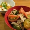 豚肉と夏野菜のしょうが炒め|塾の日ごはん
