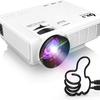 自宅で大画面でゲーム、映画を鑑賞できる DR.J LED プロジェクター 小型 4000ルーメン 1080PフルHD対応