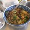 幸運な病のレシピ( 875 )昼:豚バラ肉とナスとニラのとろみ炒め