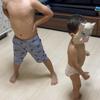 (6日目)パパ、伊之助ボデイーになるまで毎日腹筋ローラー頑張るよ