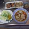 幸運な病のレシピ( 1030 )朝:お煮しめ、鮭、味噌汁