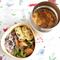 【糖質約52.6g】きのこたっぷりビスクスープ付き!三角曲げわっぱのお弁当