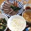お家で焼き肉♫和牛カルビ・ニラと春雨の玉子炒め