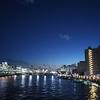 厩橋から見た  隅田川の 夜