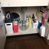 【写真あり】今あるものを使いまわして、シンク下の収納を見直しました^^