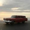 '59 CHEVROLET WAGONに乗って、サンセットサーフ。