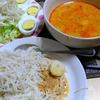 【今日の食卓】カノムチーン。タイのレッドカレー素麺。メッチャ辛いけれどメッチャハマる