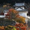 紅葉の出石城跡