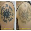 濃く盛り上がりのあるタトゥー