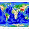 ETOPO1グローバル地形データセットで地球の全体地図をPythonで描いてみる
