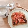 朝ご飯:簡単☆トマトのブルスケッタ風トースト