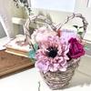 大きなお花とハート型のバスケットが可愛い♡インテリアにおすすめ作品