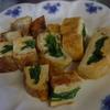 幸運な病のレシピ( 747 )朝:だし巻き卵(ホウレン草巻き込み)、鮭(醤油浸し)、味噌汁、パテから作った餃子の餡(夜に手羽先餃子と羽根つき餃子)
