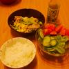 外食が続いたら、粗食にしてます♪夫の初チャレンジレシピの記念に♪