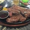 【これからを頑張るために肉を食おう! 神戸西区 伊川谷 ミューズキッチン  1ポンドステーキ 450g】
