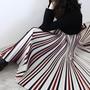 TSURU by Mariko Oikawa / Alina トリコロールカラープリーツスカート | DRESSLAVE(ドレスレイブ)