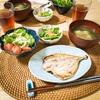 3/1の晩ご飯(鶏団子と水菜の春雨スープ 鯵の干物 無限ピーマン)鶏団子スープレシピあり