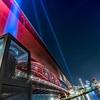 【神戸の夜景】1.17の日の神戸大橋のライトアップ