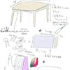 自分にちょうどいい絵机の大きさが判明?