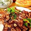 焼肉&ニラとひじきの白和え&長芋グラタン