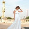 Robe de mariée col halter gracieuse