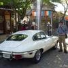 日本 谷汲の旧車イベント ジャグアーのある風景