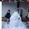 東京初雪の日 &オランダ語紙の日本の雪だるま特集がおもしろい
