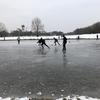 わーい金曜日ー! 友達んち&湖が凍った!