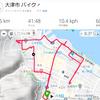 大津、朝自転車