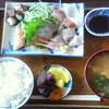 倉橋島「かず」の刺身定食- CARRERA NitroSL再デビューサイクリング -
