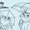 仔猫のイラスト  Lovely Kittens