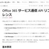 Office365 メッセージセンター向けのAPIがリリースしていました