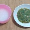 離乳食中期(7ヶ月)☆メニュー『野菜と高野豆腐のトロトロ和風あん』もぐもぐ期に入ってから少しずつ粒を残すように意識しています!見た目はいまいちですが味はバッチリ【レシピ付き】