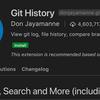Git:【GUIで済ませたい人向け】logの確認は、VSCode のプラグイン「Git History」が便利。